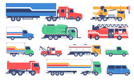 Illustration for Special-purpose trucks. Special service vehicles - Royalty Free Image