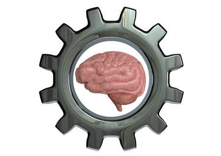 Photo pour Mindset Training concept of high mental performance, cognitive and brain capacity development. 3D rendering - image libre de droit
