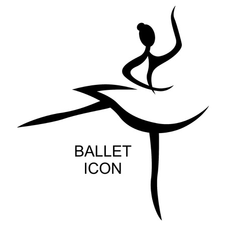Illustration for Vector illustrations of ballet icon isolated on white background. Ballet woman icon. Ballet stylized symbol. Dance icon. Ballerina - Royalty Free Image