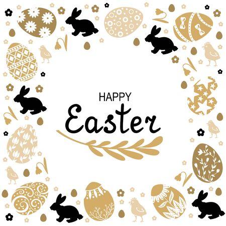 Illustration pour Vector illustrations of Easter decorative card - image libre de droit