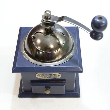 Studio shot of a vintage coffee grinder