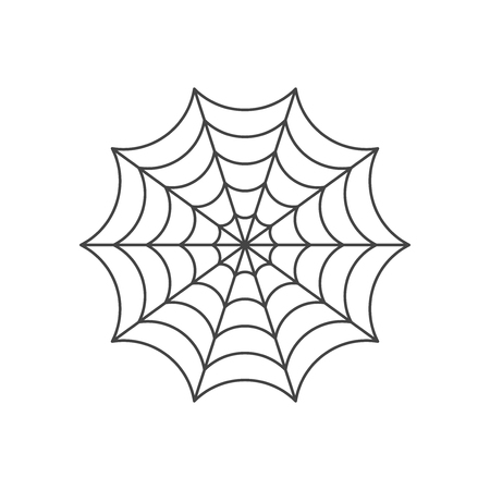 Illustration pour Spider web icon - image libre de droit