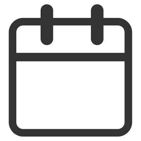Calendar Leaf glyph icon. Style is flat symbol, gray color, rounded angles, white background.