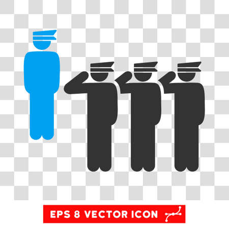 Vector Army Squad EPS vector pictogram. Illustration style is flat iconic bicolor blue and gray symbol on a transparent background.