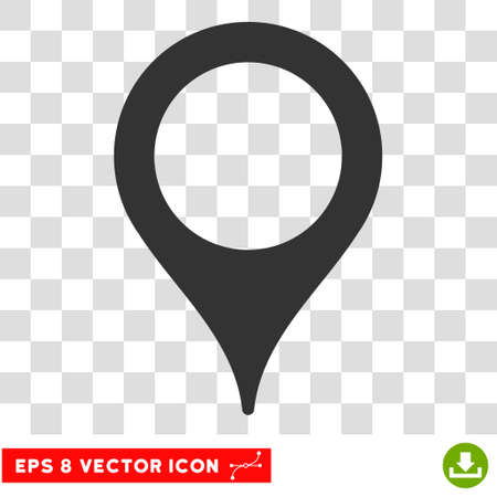 Illustration pour Vector Map Pointer EPS vector icon. Illustration style is flat iconic gray symbol on a transparent background. - image libre de droit