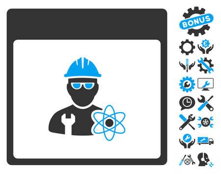 Atomic Engineer Calendar Page icon with bonus setup tools