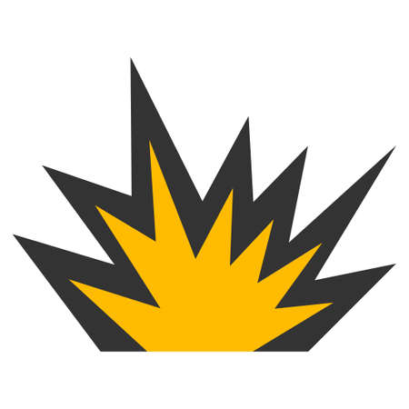 Illustration pour Boom Explosion vector icon. Style is flat graphic symbol. - image libre de droit