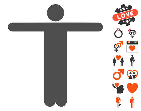 Scarecrow Pose pictograph with bonus lovely pictograms  Vector