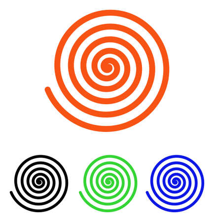 Hypnosis vector pictogram with different color versions.