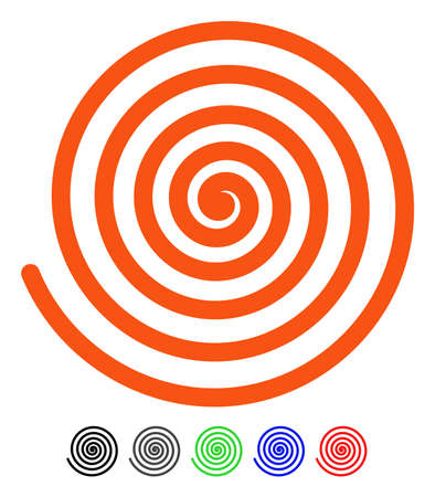 Hypnosis flat vector pictogram with colored versions. Color hypnosis icon variants with black, gray, green, blue, red.