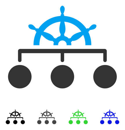 Rule Structure flat vector pictogram. Colored rule structure gray, black, blue, green icon versions. Flat icons for graphic design.