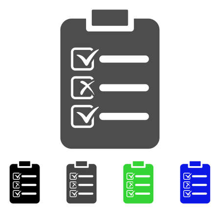 Check List flat vector illustration  Colored check list
