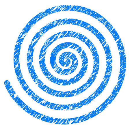 Grunge Hypnosis icon with grunge design and unclean texture. Unclean vector blue pictogram for rubber seal stamp imitations and watermarks. Draft sign symbol.