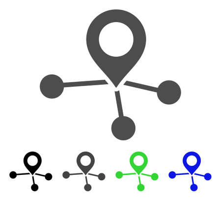 Locations flat icon style for web design.