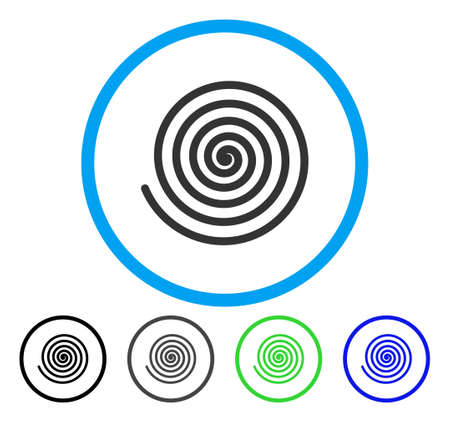 Hypnosis rounded icon. Vector illustration style is a flat iconic symbol inside a circle, black, gray, blue, green versions. Designed for web and software interfaces.