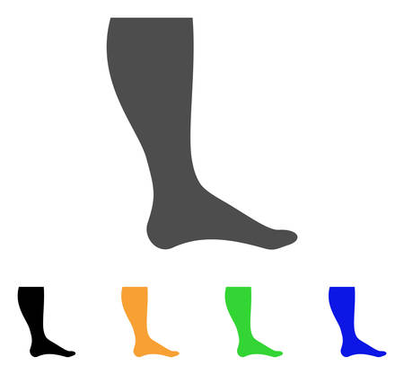 Leg vector pictogram. Style is a flat graphic symbol in gray, black, yellow, blue, green color versions. Designed for web and mobile apps.