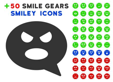 Shout Smiley Message pictograph with bonus emotion icon set