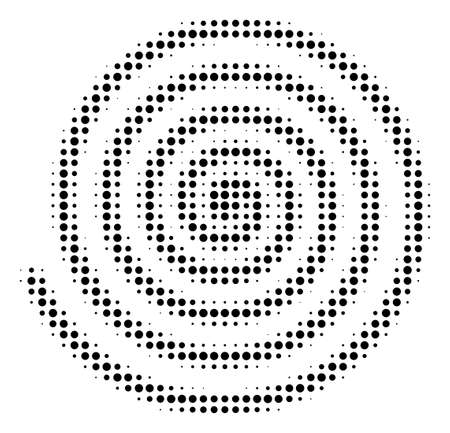 Hypnosis halftone vector pictogram. Illustration style is dotted iconic Hypnosis icon symbol on a white background. Halftone pattern is circle spots.