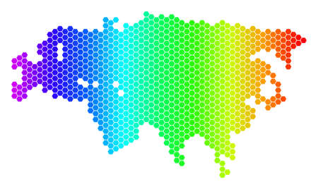 Vector Multi Colored Dot England Map - Berkshireregion