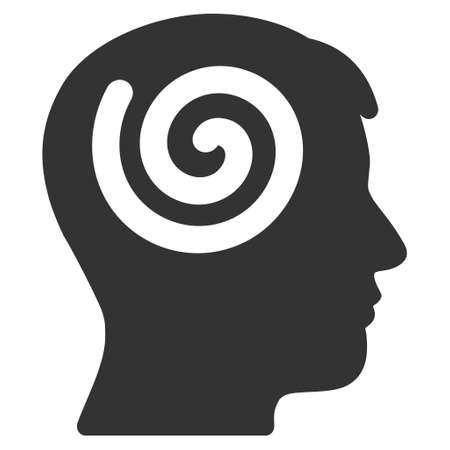 Vector hypnosis illustration. An isolated illustration on a white background.