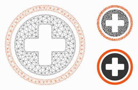 paras paikka superlaatu paras asenne Mesh rounded cross model with triangle mosaic icon. Wire ...