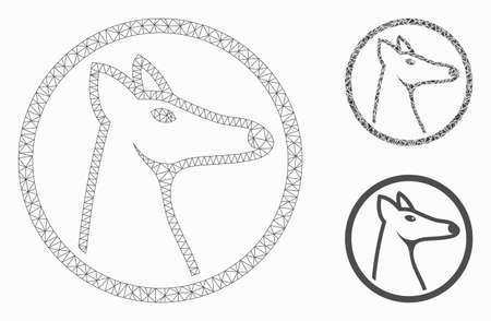 online jälleenmyyjä kohtuullinen hinta upea ilme Mesh rounded fox head model with triangle mosaic icon. Wire ...