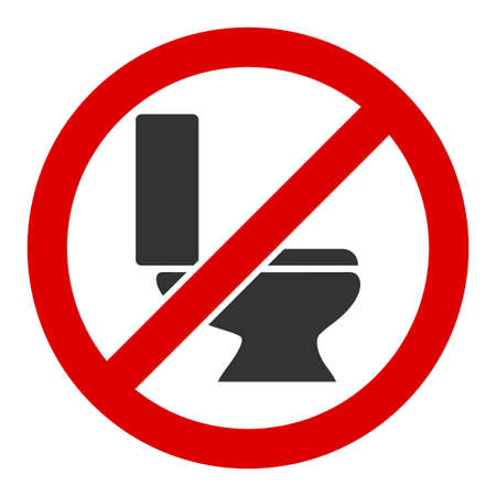 Photo for No toilet bowl raster icon. Flat No toilet bowl symbol is isolated on a white background. - Royalty Free Image