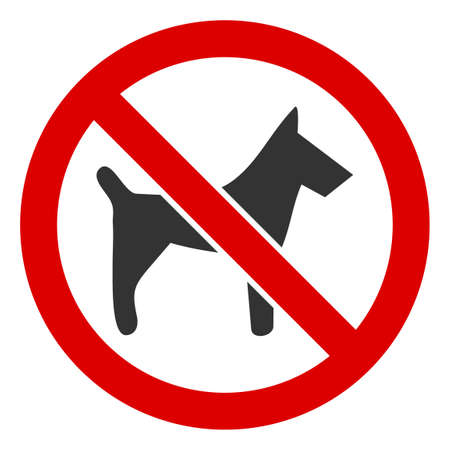 Photo pour No Dogs icon. Illustration style is a flat iconic symbol inside red crossed circle on a white background. Simple No Dogs raster sign, designed for rules, restrictions, regulations, law descriptions, - image libre de droit