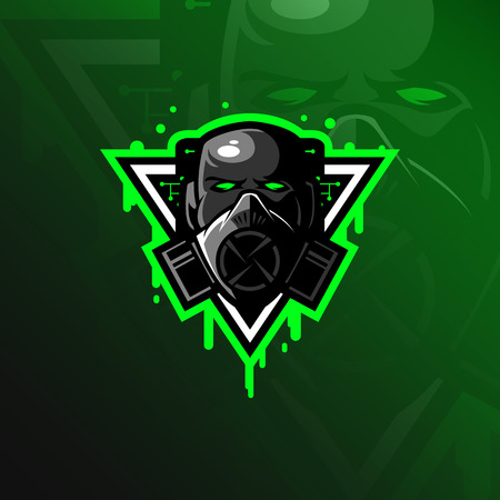Illustration pour toxic mascot logo design vector with modern illustration concept style for badge, emblem and tshirt printing. head toxic illustration. - image libre de droit