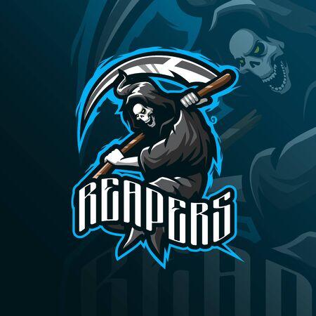 Illustration pour Reaper mascot  design - image libre de droit