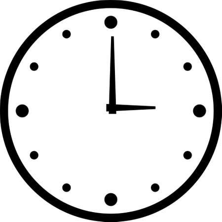 Illustration pour Clock Time Icon Vector Illustration - Vector - image libre de droit