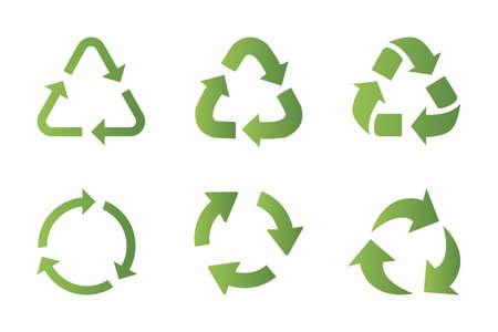 Ilustración de Recycling symbol icon set - Imagen libre de derechos