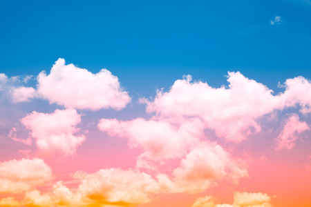 Soft Cloud And Sky With Pastel Gradient Color For Background