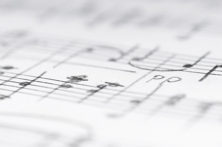 Photo of Handwritten musical notes, - ID:34897711 - Royalty Free