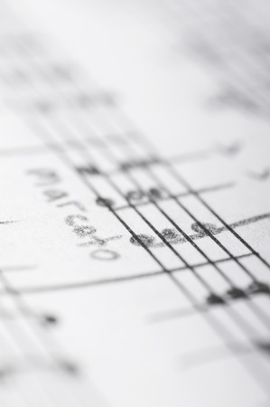 Handwritten musical notes, shallow DOF: Royalty-free images, photos