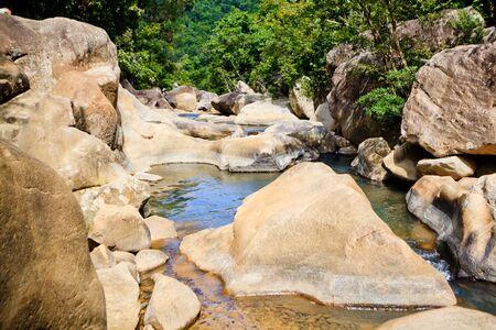 waterfall Stones Ba Ho in Vietnam