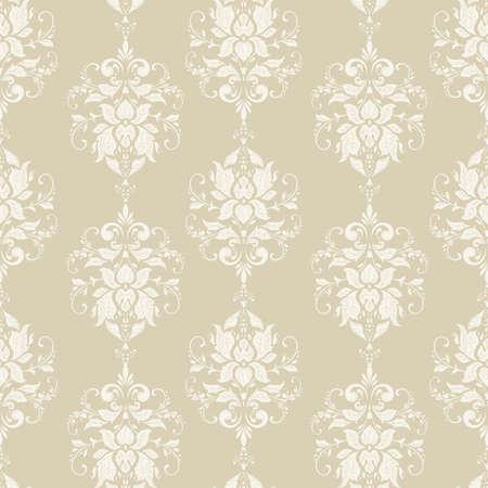 Illustration pour Vector floral wallpaper. Classic Baroque floral ornament. Seamless vintage pattern - image libre de droit