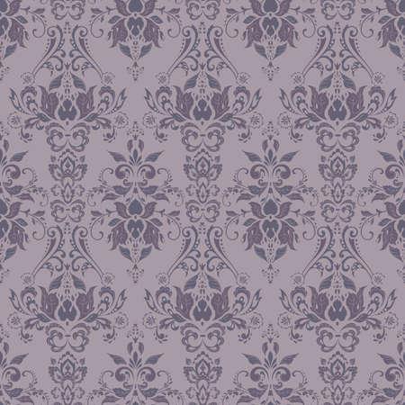Illustration pour Vector Baroque floral pattern. classic floral ornament. vintage texture for wallpapers, textile, fabric - image libre de droit