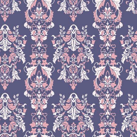 Illustration pour Ornate damask background. Vector vintage wallpaper - image libre de droit