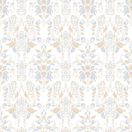 Illustration pour Seamless damask background. Vector vintage wallpaper - image libre de droit