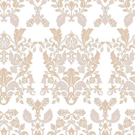Illustration pour Seamless vintage wallpaper. Vector background for textile design - image libre de droit
