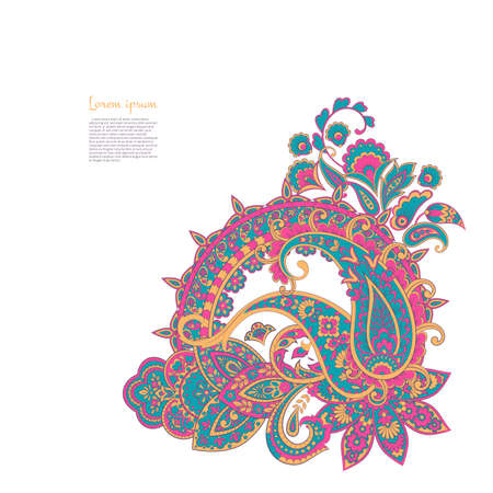 Illustration pour Paisley isolated pattern. Vintageillustration in Damask style - image libre de droit
