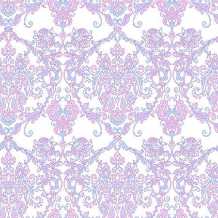 Illustration pour Seamless vintage vector background. Vector floral wallpaper baroque style pattern - image libre de droit