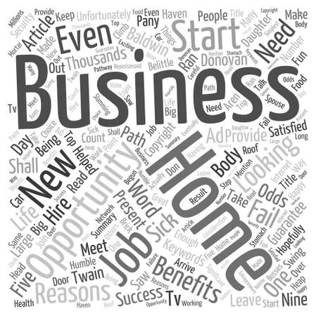 Home Business Opportunities Word Cloud Concept