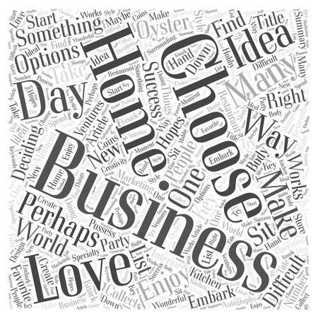 Choosing A Home Business