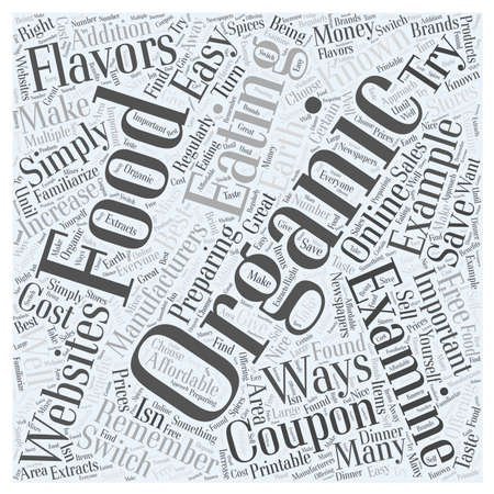 Easy Ways to Make the Switch to Organic Foods word cloud concept