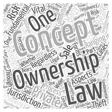The Concept of Ownership word cloud concept