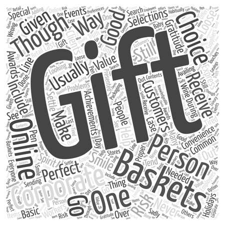 corporate gift basket online word cloud concept