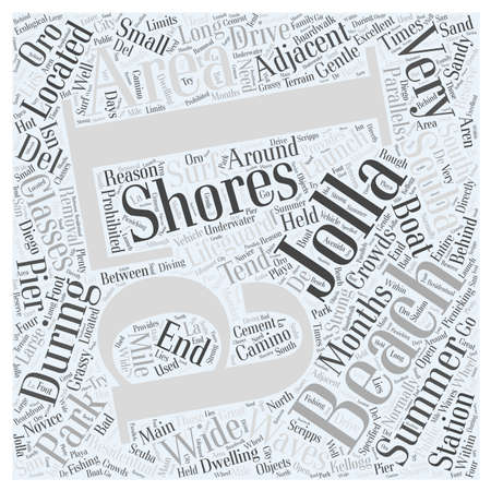 La Jolla Shores word cloud concept