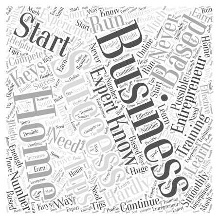 entrepreneur home based business word cloud concept